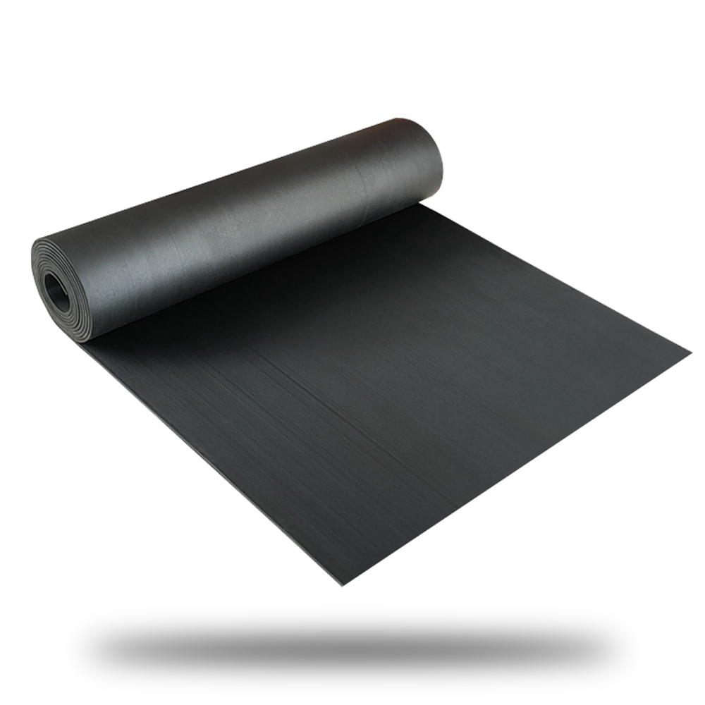 Anti Slip Fine Thin Narrow Ribbed Corrugated Rubber Sheet/Rubber Flooring Roll
